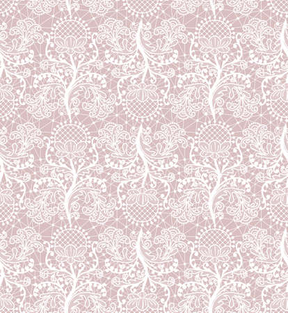 Seamless pattern of white lace Vecteurs