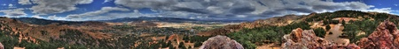 wayside: Geiger Lookout Wayside Park Nevada Panorama on a cloudy day