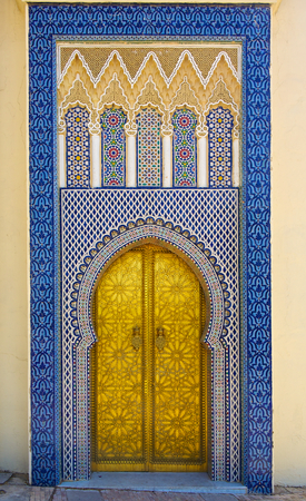 Gate to the palace of the king of Morocco in Fez, Morocco Stock Photo