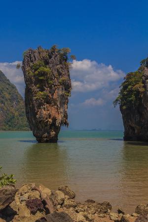 james bond: Ko Tapu island in the Ao Phang-Nga park, near Phuket, Thailand known as James Bond Island