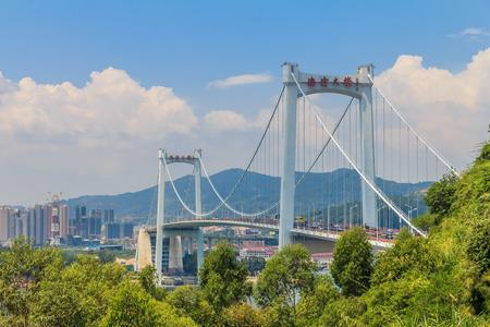 mainland: Haicang bridge in Xiamen, China links xiamen island with the citys Haicang district on the mainland Stock Photo