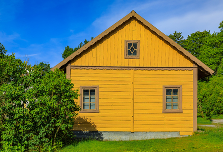 Traditional swedish old house in the heart in Stockholm, Sweden