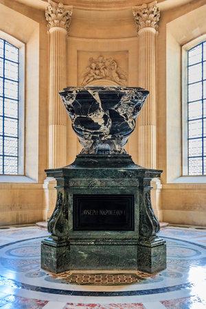 Tomb of Joseph Napoleon Bonaparte, King of Naples, Sicily, and Spain in Les Invalides museum complex in Paris, France