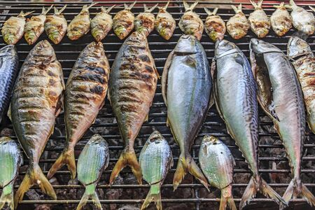 Fresh grilled fish at the Market in Krabi Town, Thailand