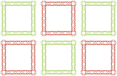 six colored picture frames Stock fotó