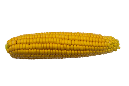 Delicious, juicy and sweet corn. Top view