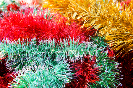 Christmas colorful  tinsel background