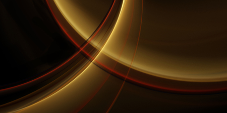 Abstract fractal background for design with golden arcs