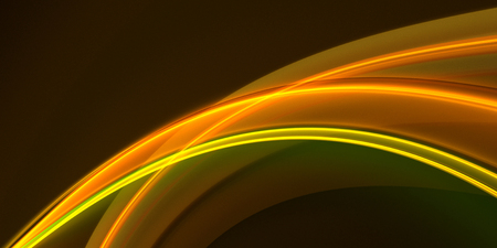 Abstract glowing golden waves on a dark background. Fractal