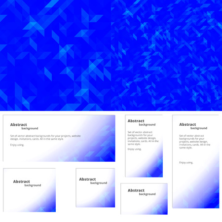 discrete: Abstract background for website design, invitations, cards. Plus a set of backgrounds for banners of different sizes in the same style. Illustration