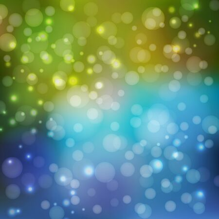 bitmap: Abstract background in blue and green tones. To design your projects. Bokeh wallpaper. Bitmap illustration.