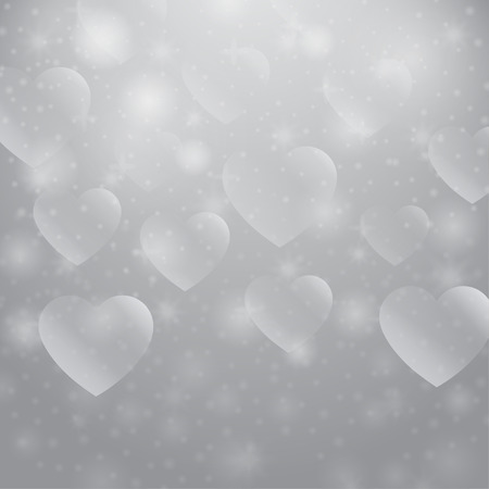 comely: Abstract ornament love. Decorative pattern with hearts. Bright shapes bokeh. Romantic symbol. Valentines Day wallpaper. Festive creative art. Simple graphic wallpaper.