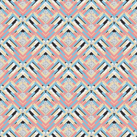 Seamless pattern. Retro graphic. Memphis illustration. design. Vintage backdrop. Bauhaus wallpaper. Postmodernism art. Hipster background. Futuristic print. Geometry ornament.