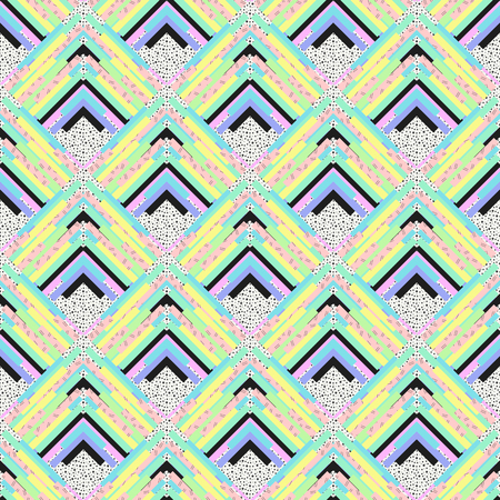 bauhaus: Seamless backdrop. Retro wallpaper. Memphis art. background. Vintage print. Bauhaus ornament. Postmodernism pattern. Hipster graphic. Futuristic illustration. Geometry design. Illustration
