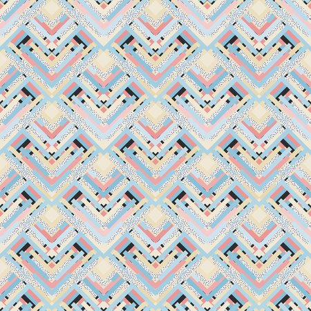 colorific: Seamless background. Retro print. Memphis ornament.  Vintage graphic. Bauhaus illustration. Postmodernism design. Hipster backdrop. Futuristic wallpaper. Geometry art.