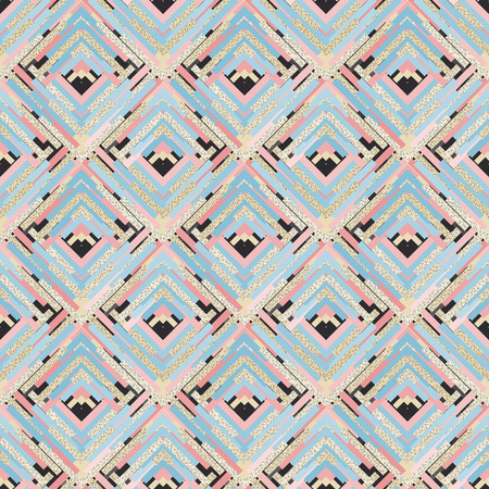 bauhaus: Seamless backdrop. Retro design. Memphis illustration.  Vintage pattern. Bauhaus ornament. Postmodernism print. Hipster background. Futuristic art. Geometry wallpaper. Illustration