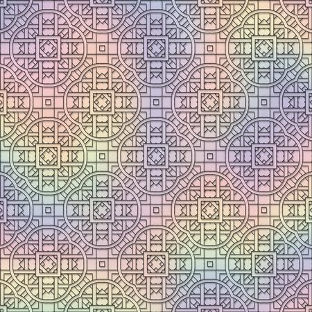 impish: Holography background. Retro art. Multi-color wallpaper. Vintage design. Abstract illustration. Hipster pattern. Futuristic ornament. Geometry print. Illustration
