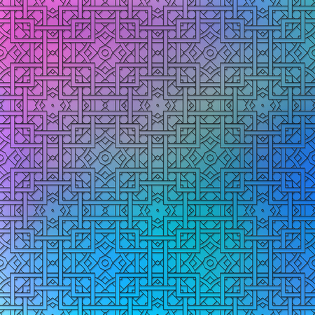 exciting: Holography graphic. Retro print. Polychromatic wallpaper. Vintage ornament. Abstract art. Graphic design. Hipster pattern. Futuristic background. Geometry backdrop. Illustration
