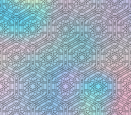 Holography ornament. Retro art. Polychromatic design. Vintage background. Abstract backdrop. Graphic graphic. Hipster print. Futuristic wallpaper. Geometry illustration.