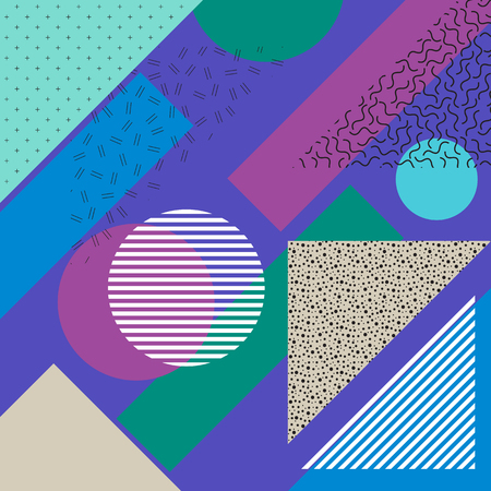natty: Abstract backdrop. Retro illustration. Seamless pattern. Vintage art. Bauhaus design. Memphis graphic. Hipster ornament. Futuristic background. Geometry wallpaper. Illustration