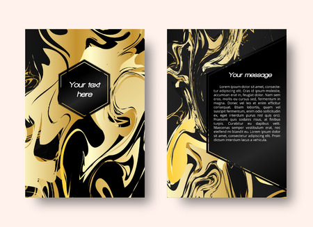 disorderly: Marble design. Card illustration. Christmas graphic. Gold pattern. Vintage ornament. Abstract print. Banner background. Hipster art. Futuristic wallpaper. Watercolor backdrop. Vector illustration.