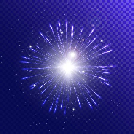 Sparkle background. Christmas lights. Lens flare. Sparkle vector. Stage spotlight. Illustration of a transparent backdrop.