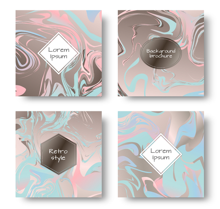 Marble surface. Marbling pattern. Art nouveau ornament. Holiday background. Set for cover, flyers, leaflets, promotional offers, banners, brochures, booklets. Illustration