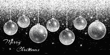 Christmas decoration ball. New years eve background. Winter lights. Happy holidays vector