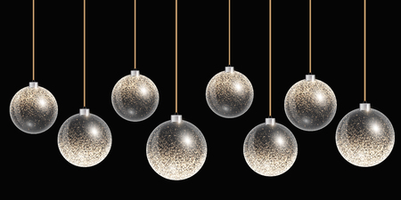 Christmas ball isolated. Happy holidays background. New years eve celebration. Vector abstract design