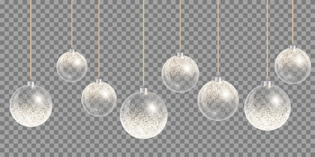 Christmas ball vector. New years decoration transparent background