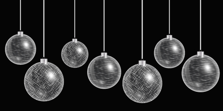 Balls christmas hanging. New years eve. Holiday background. Eps10 vector