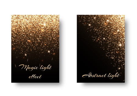 Set light backgrounds for design of postcards, greetings. Christmas pattern with brilliant effect. Illustration