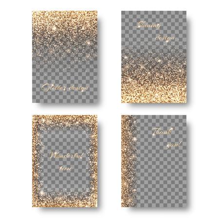 Set shine transparent background
