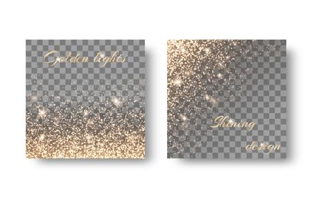 glitzy: Set spark on a transparent background Illustration