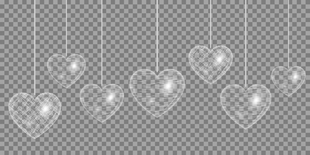 glitzy: Heart Silver effect on a transparent background
