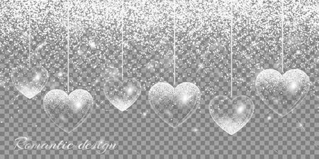glitzy: Heart silver highlights
