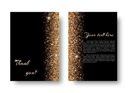 glitzy: Glimmer background with light flare. New year celebration on a black backdrop.
