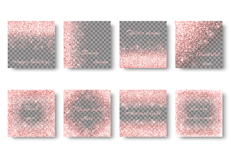 Glitter sparkle background with abstract light. Brilliant pattern on a transparent backdrop.