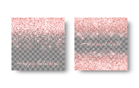 Glitter sparkle background with shining light. Christmas decoration on a transparent backdrop.