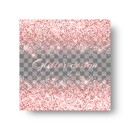 Glitter sparkle background with flare light. Glossy texture on a transparent backdrop.