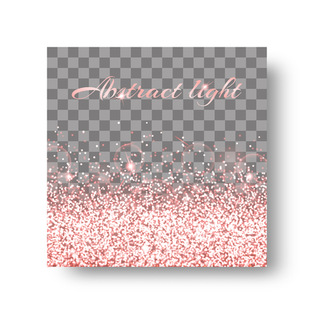 Glitter sparkle background with glowing lights. Glow vector on a transparent backdrop.