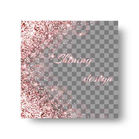 Glitter sparkle background with light burst. Lens flare vector on a transparent backdrop.