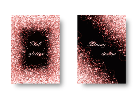 Bling background with glowing lights. Shiny texture on a black backdrop.