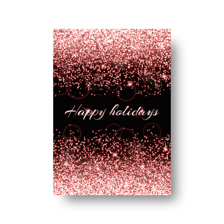 glitzy: Bokeh background with shining light. Glowing star on a black backdrop. Illustration
