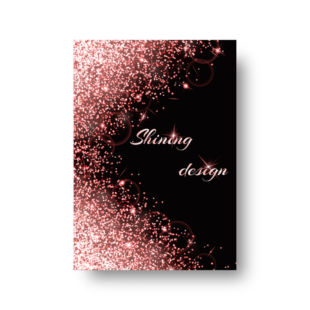 Bling background with twinkle lights. Dust particles on a black backdrop.