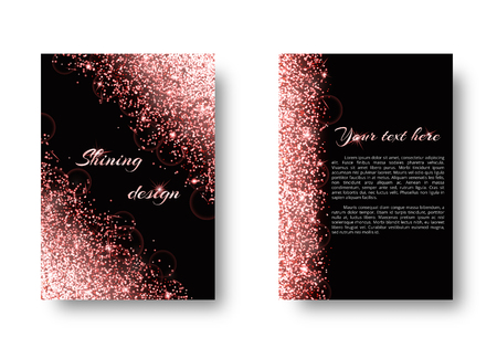Foil background with light burst. Glossy texture on a black backdrop.