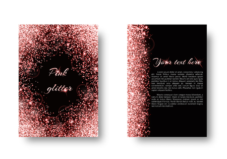 Bling background with flare light. Shining vector on a black backdrop.