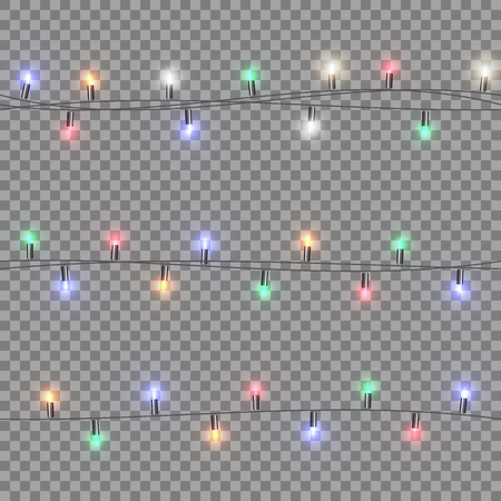 Christmas garland with colored lights