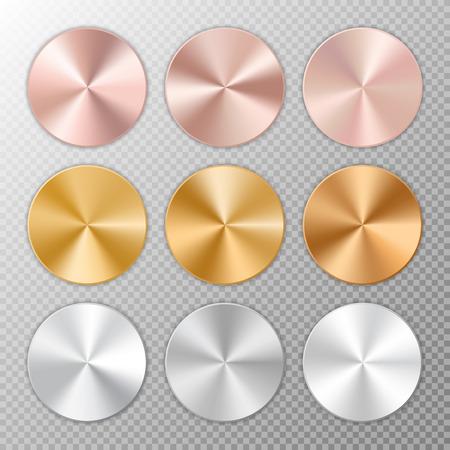 brushed aluminium: Round buttons icons