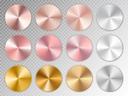 Conic gradients with a metal texture